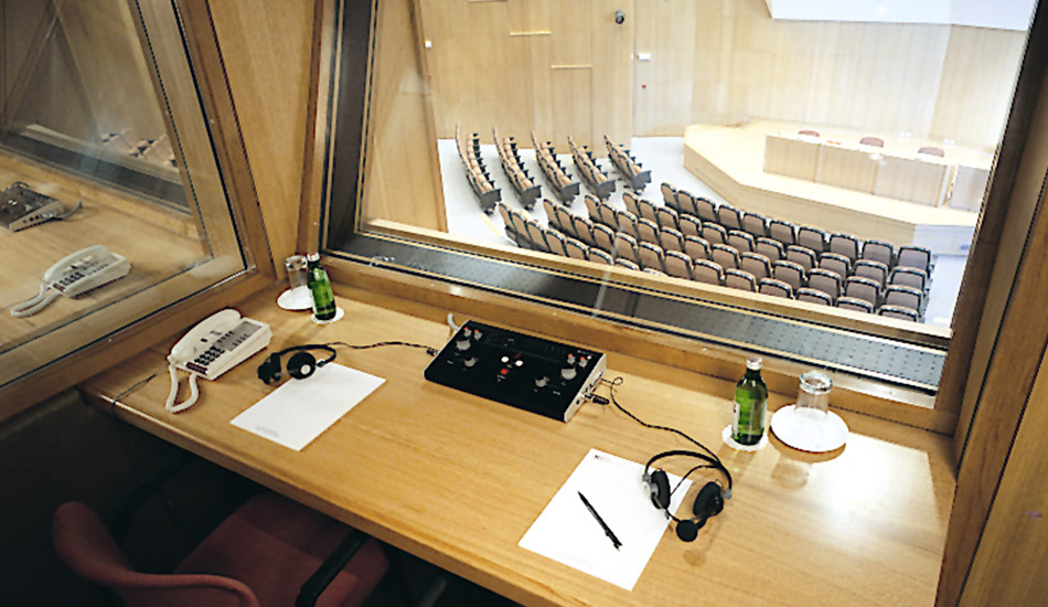 Translation booth in Auditorium Europe