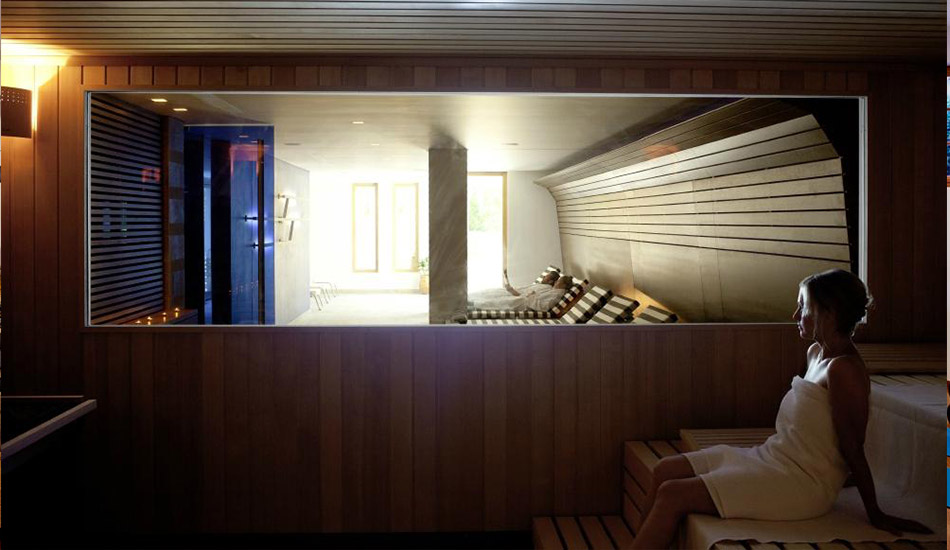 Spa with sauna and steam bath